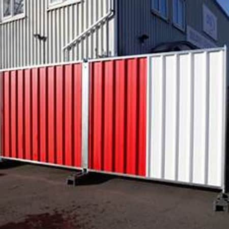 Steel Site Hoarding Hire In